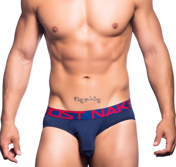 Andrew Christian Slip ALMOST NAKED PREMIUM BRIEF 90438, navy blau