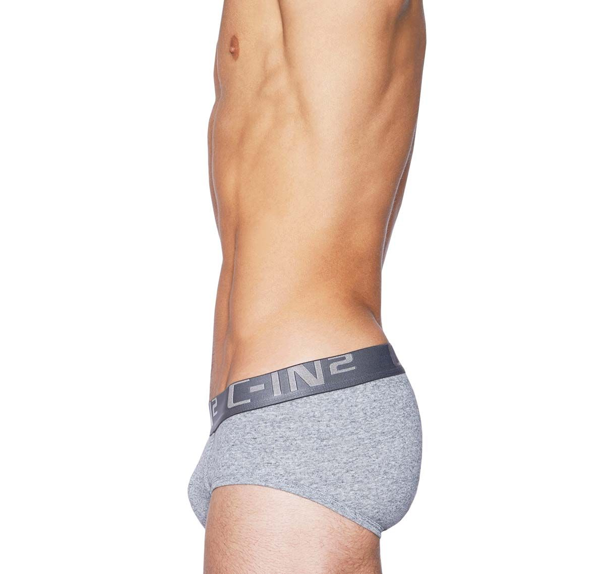 C-IN2 Slip CORE MID RISE BRIEF, gris