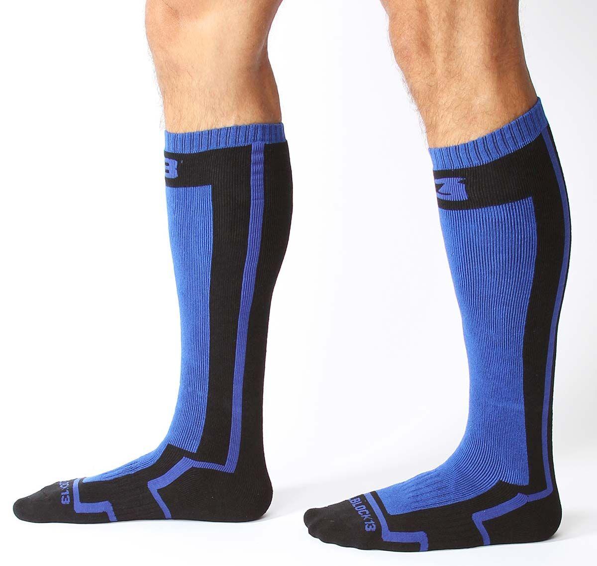 Cellblock 13 Calcetines deportivos FULL THROTTLE KNEE HIGH SOCK, azul