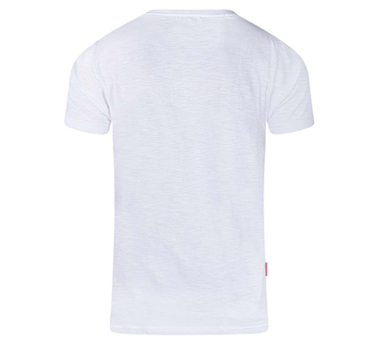 aussieBum Camiseta DESIGNER TEE STAR RED, blanco