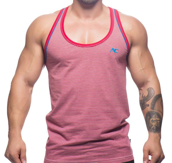 Andrew Christian Tank Top CAMPUS TANK STRIPE 2689, rot