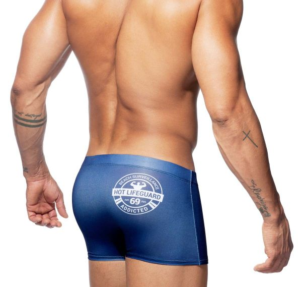 Addicted Badeshorts LIFEGUARD BOXER ADS158, navyblau