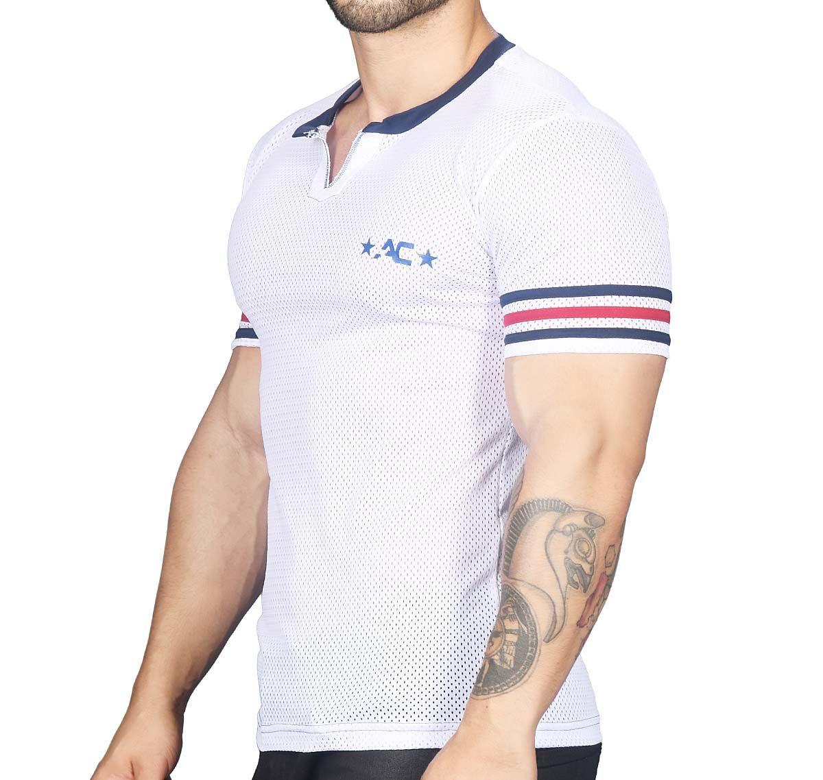Andrew Christian T-Shirt SUPERHERO MESH TEE 10256, weiß