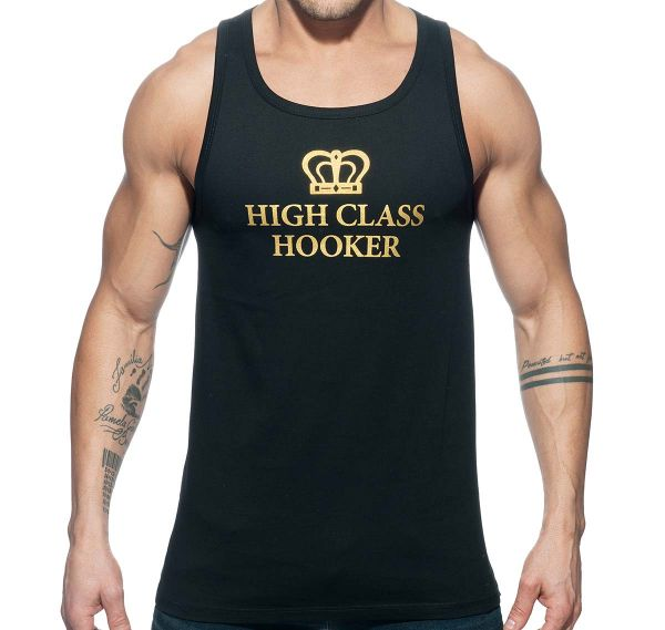 Addicted tank top HIGH CLASS HOOKER TANK TOP AD646, schwarz