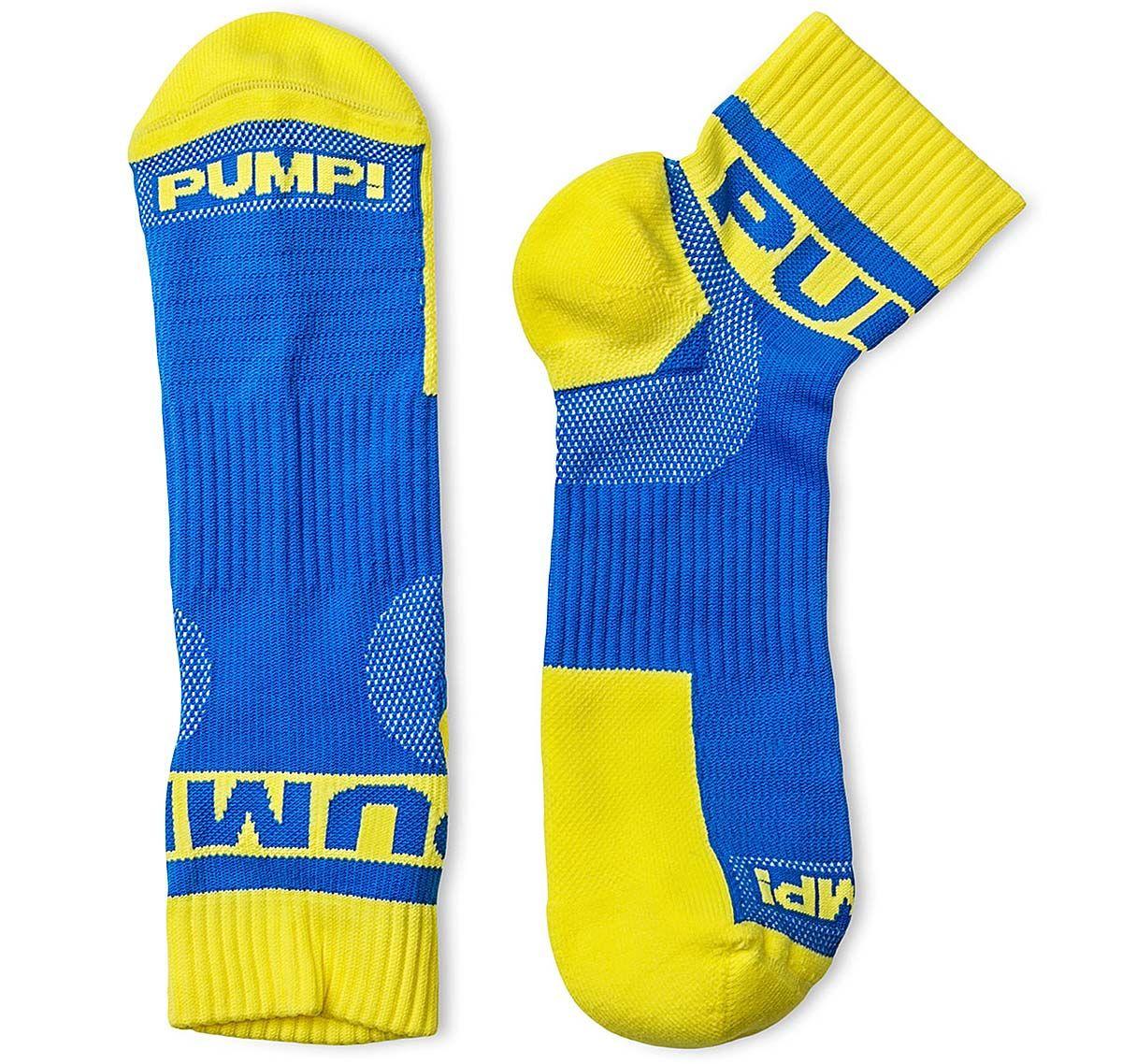 Pump! Sportsocken 2er-Pack ALL-SPORT SPRING BREAK SOCKS 41004, blau/gelb