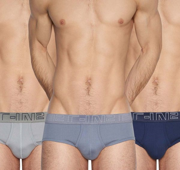 C-IN2 Slip 3er Pack BI-FLY MID RISE BRIEF 1325-456, grau, blau, navy