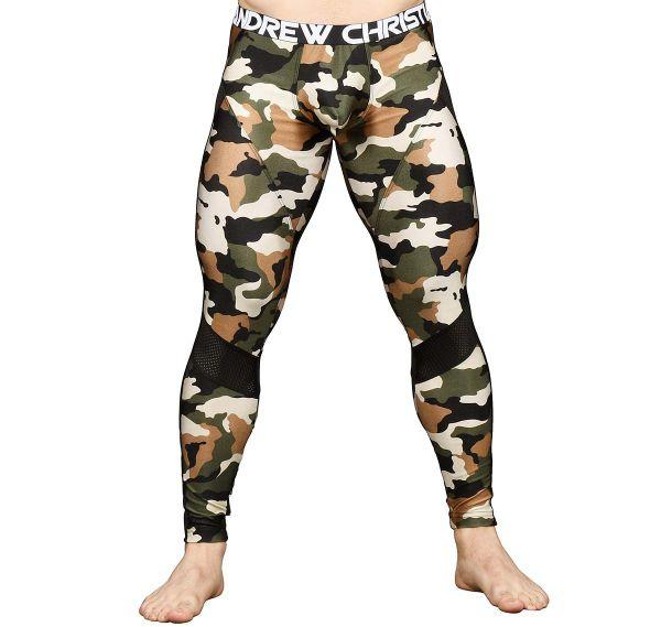 Andrew Christian Leggings CAMOUFLAGE MESH LEGGING w/ Almost Naked 91497, camouflage