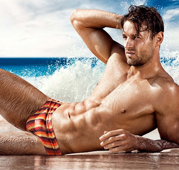 aussieBum Badehose WJ VINTAGE STRIPES, orange