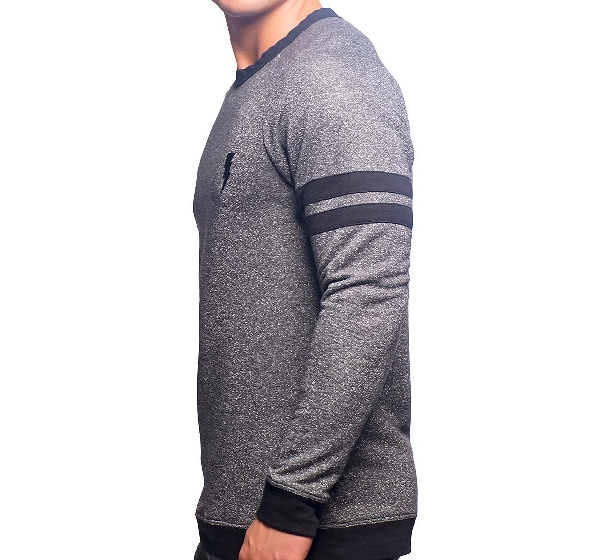 Andrew Christian maillot de sport LIGHTNING SPARKLE SWEATSHIRT 10239, gris