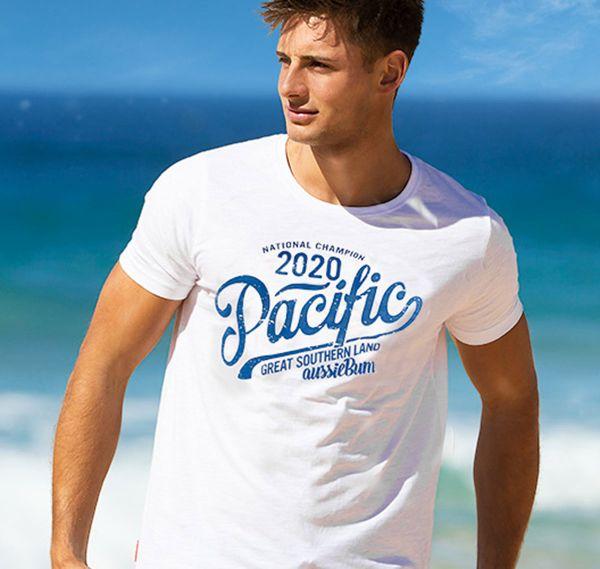 aussieBum T-Shirt DESIGNER TEE PACIFIC, weiß