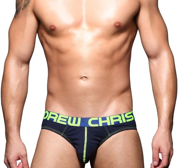 Andrew Christian Slip HAPPY BRIEF w/ Almost Naked 91618, navy