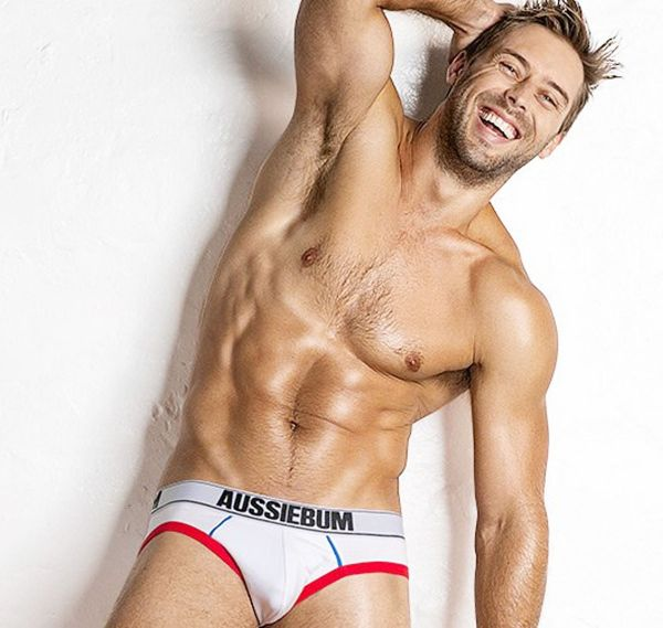 aussieBum Brief HomeRun, white