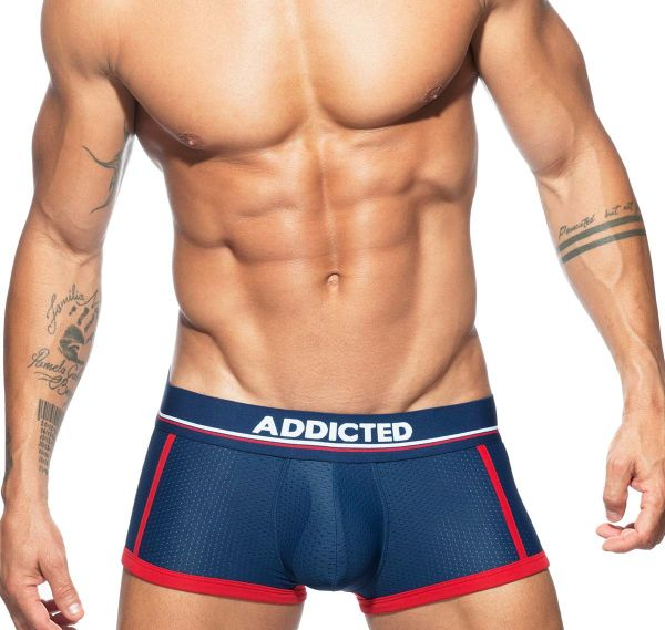 Addicted Boxershorts SPORT MESH TRUNK AD739, navy