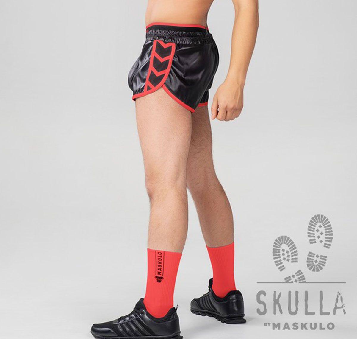 MASKULO Fetish Shorts SKULLA. SH071-10, red