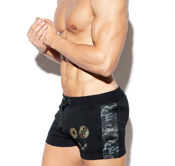 ES Collection Training shorts ARMY PADDED SPORT SHORTS SP222, black