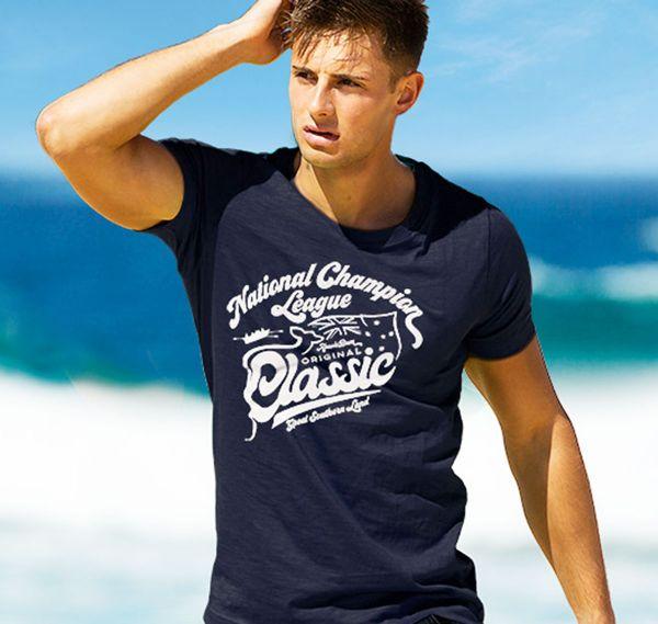 aussieBum T-Shirt DESIGNER TEE CHAMPION, navy