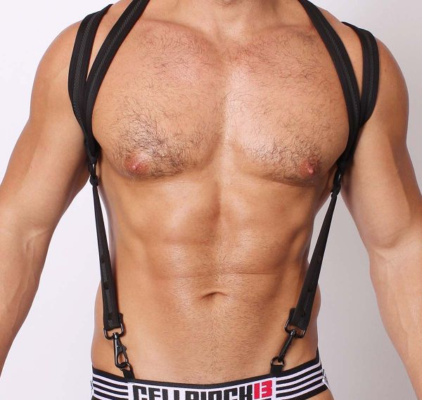 Cellblock 13 Harness SPIDER NEOPRENE HARNESS, schwarz