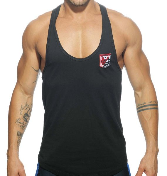 Addicted Sportshirt CONTRAST TANK TOP AD493, schwarz