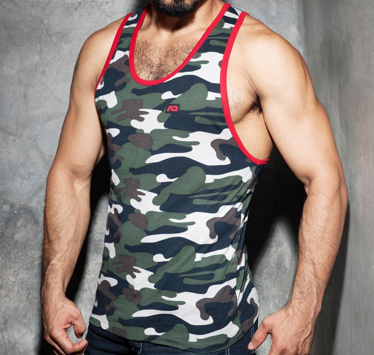 Addicted CAMO FETISCH TANK TOP ADF65, Rot