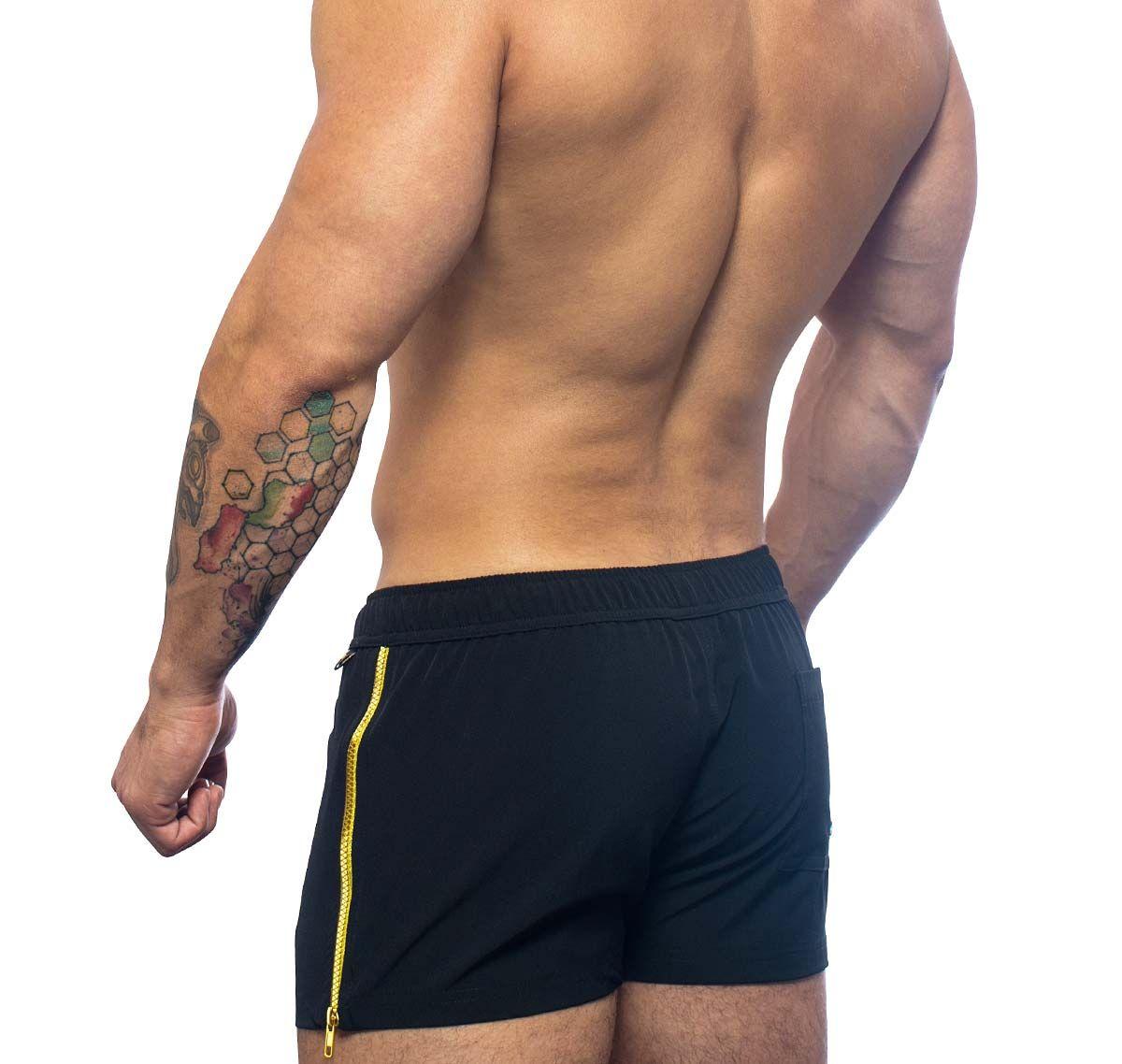 Andrew Christian Swim Shorts GLAM ZIP SWIM SHORTS 7659, black