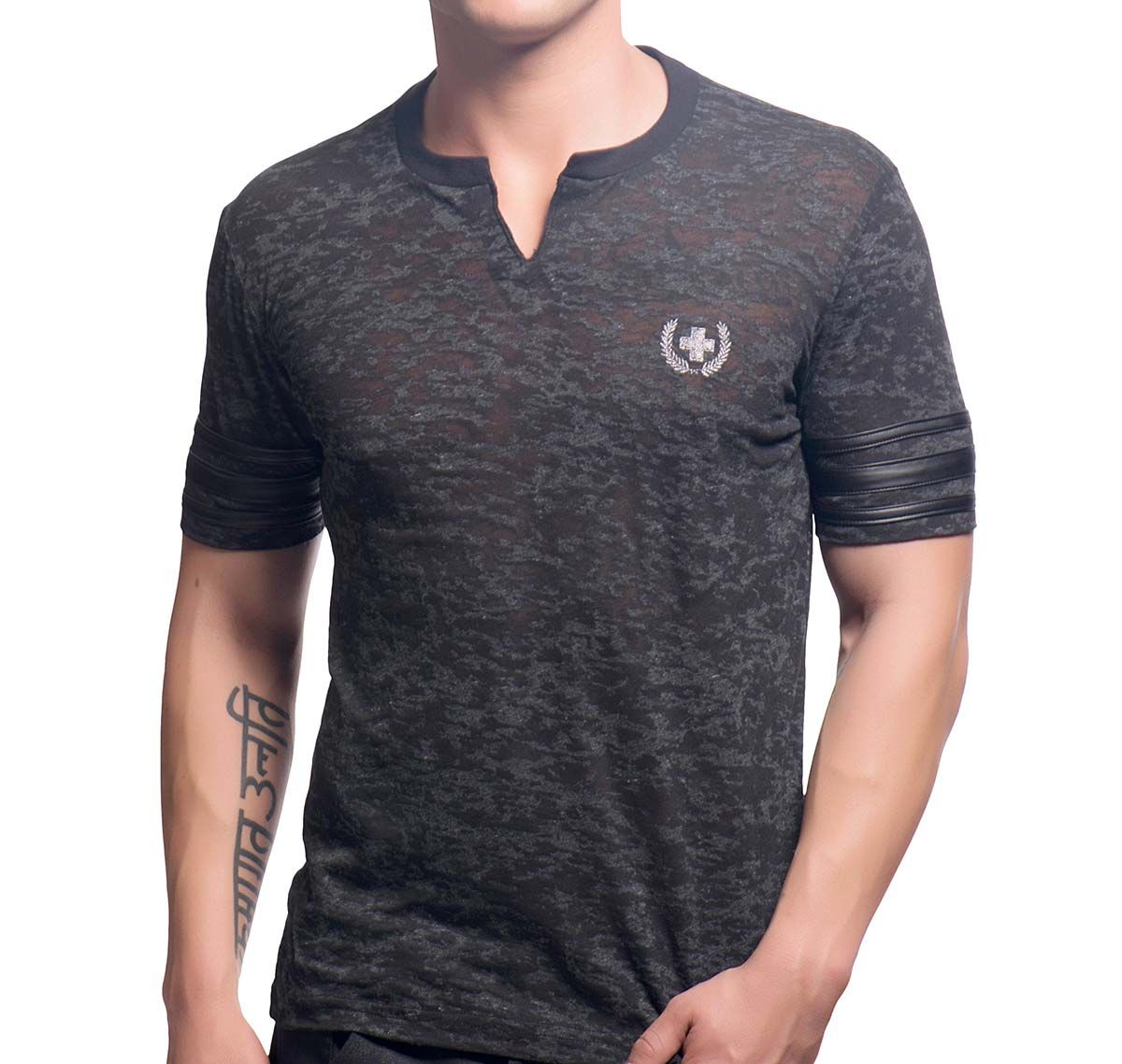 Andrew Christian T-shirt SLICK CLIP TEE 10240, gris