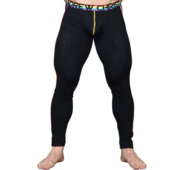 Andrew Christian Leggings ULTRA PRIDE SIDE-MESH LEGGING 91532, noir