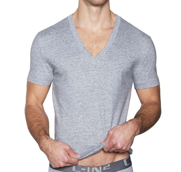 C-IN2 T-Shirt CORE DEEP V-NECK, grau