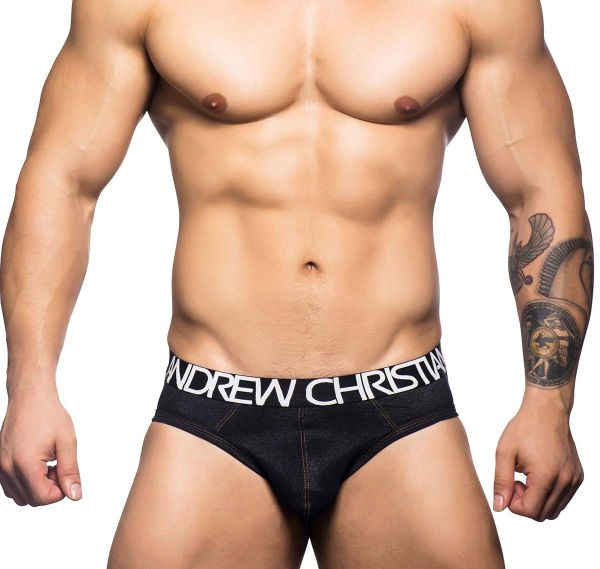 Andrew Christian Slip ECLIPSE DENIM BRIEF 90334, schwarz