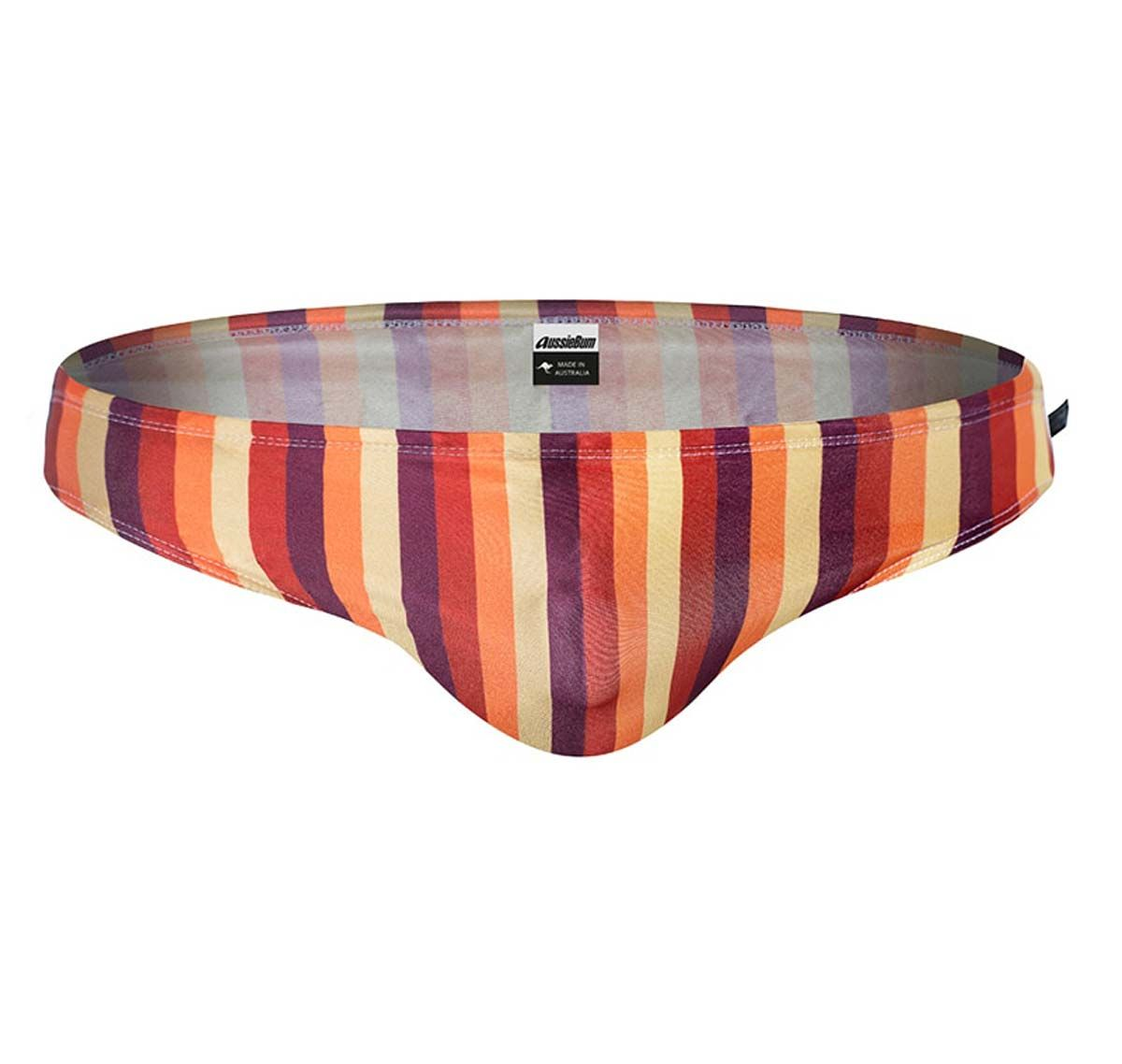 aussieBum Slip de bain WJ VINTAGE STRIPES, orange