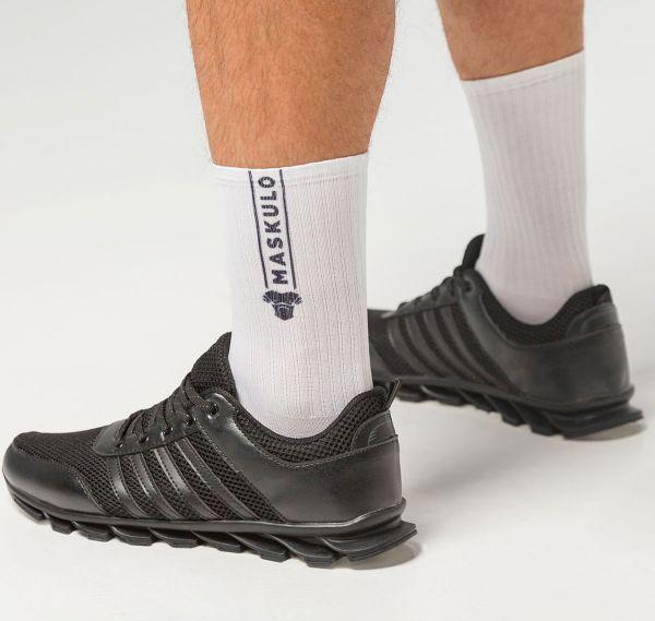 MASKULO Fetish Socks SKULLA. AC077, weiß