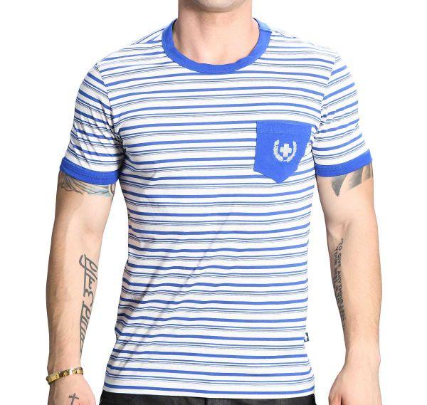 Andrew Christian T-Shirt BAYSIDE TEE 10265, blau/weiß