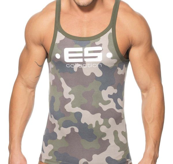 ES Collection TANK TOP 554, camouflage