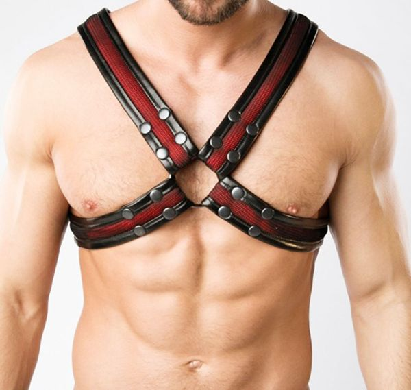MASKULO Imbracatura ARMORED. COLOR-UNDER. AC063, nero/rosso