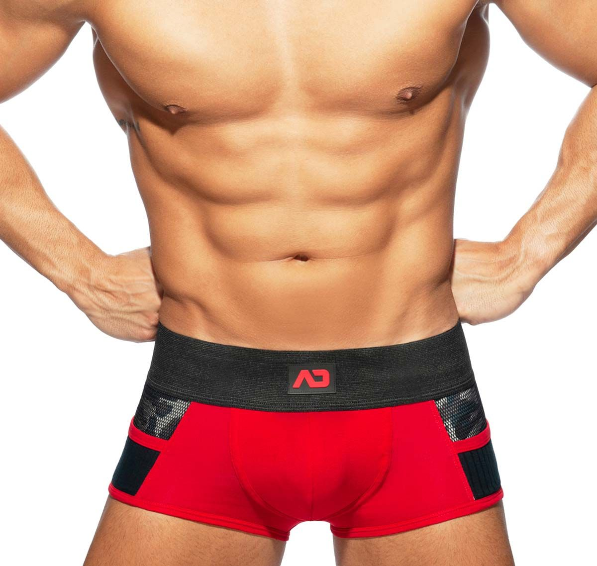 Addicted bóxer ARMY COMBI TRUNK AD784, rojo