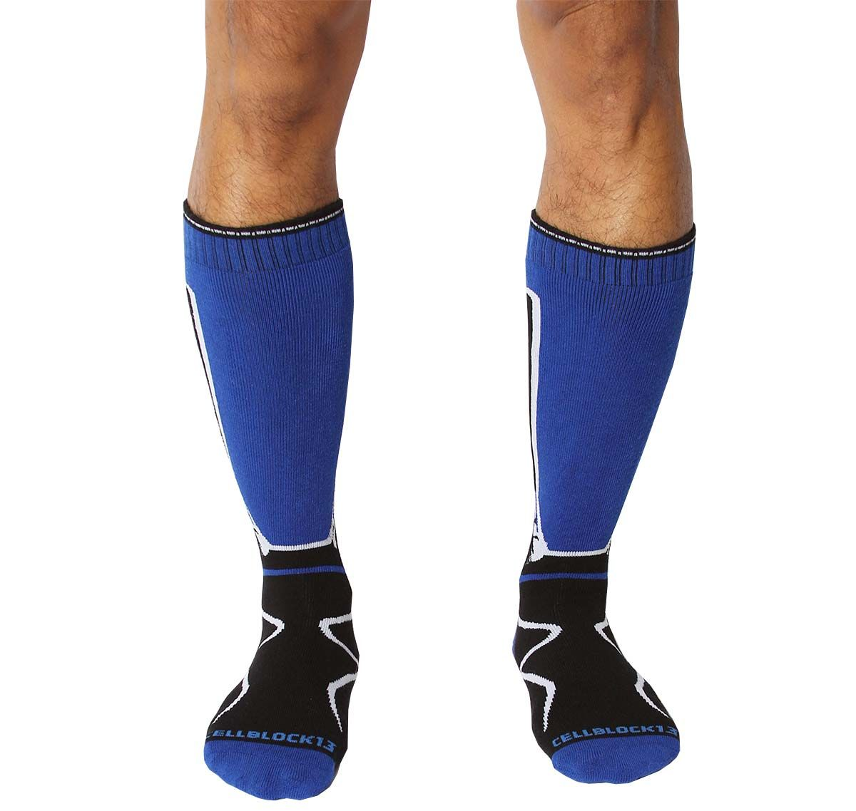 Cellblock 13 Sports socks KENNEL CLUB Mid-Calf SOCK, blue