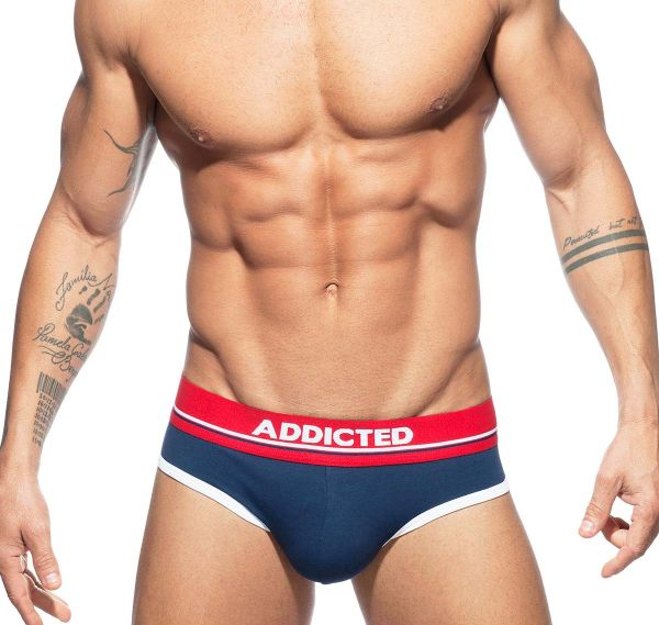 Addicted Slip CURVE BRIEF AD727, navy