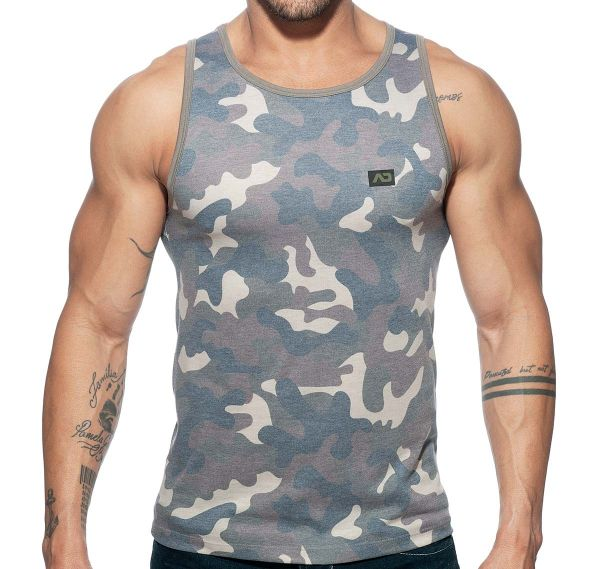 Addicted maillot de sport ADDICTED WASHED CAMO TANK TOP AD801, camouflage