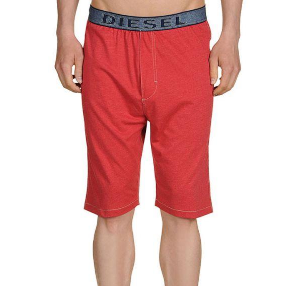 Diesel Herren Loungewear Hose kurz rot