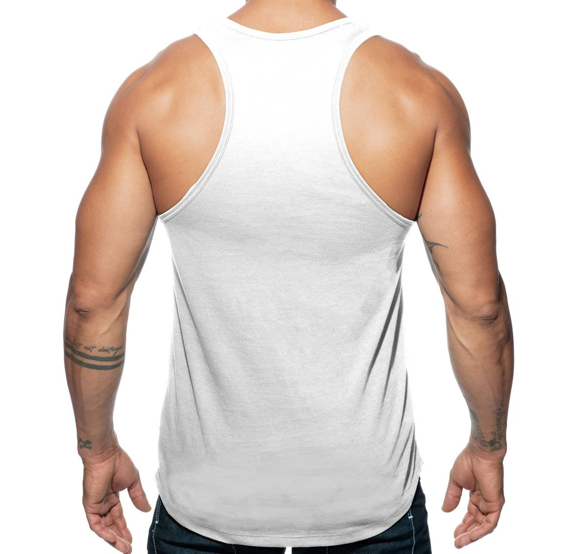 Addicted Sportshirt MILITARY TANK TOP AD611, weiß