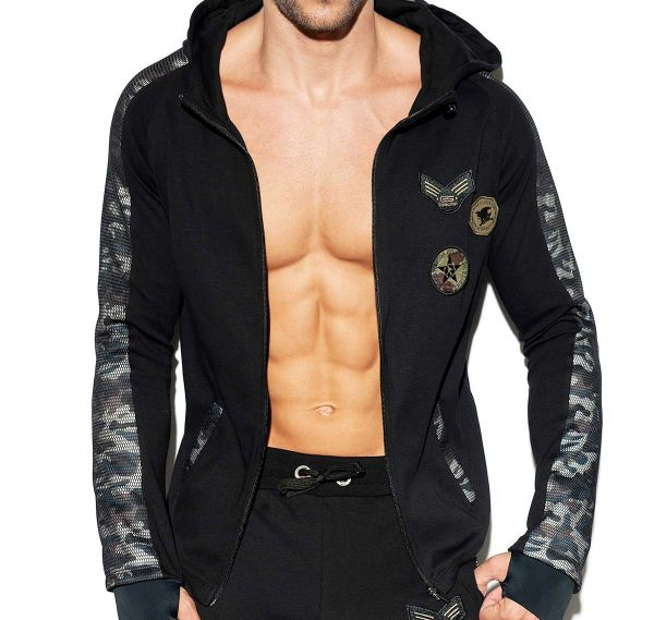 ES Collection Jacket ARMY PADDED SPORT JACKET SP220, black
