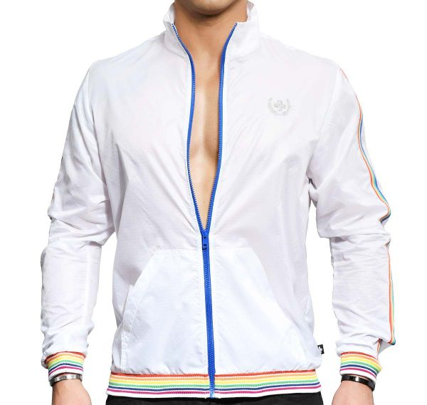 Andrew Christian Giacca PRIDE TRACK JACKET 5141, bianco