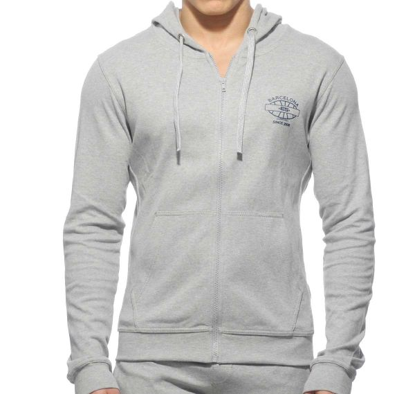 ES Collection Sportjacke DETAILED POCKET HOODY SP073, grau