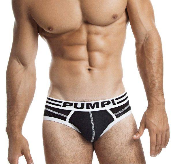 Pump! Slip LUX BRIEF 12038, schwarz/weiß