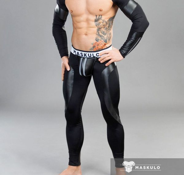 MASKULO Fetish Leggings Backless YOUNGERO. LG30-90, schwarz