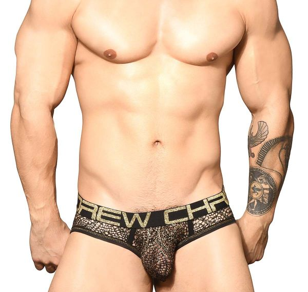 Andrew Christian Slip EL DORADO MESH BRIEF w/ Almost Naked 91753, negro