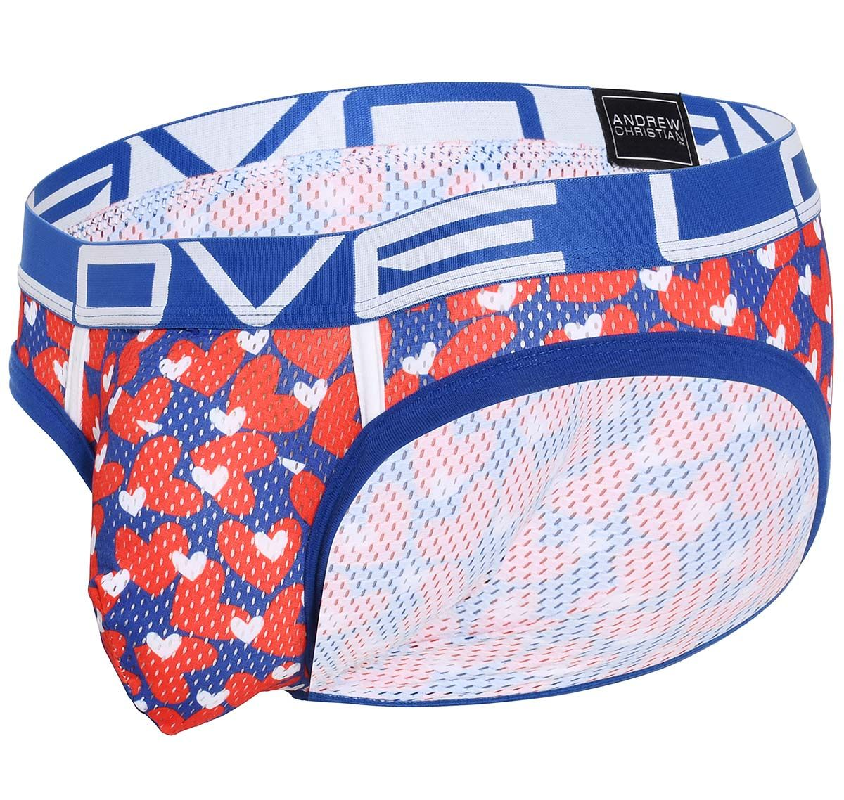 Andrew Christian Herrenslip LOVE SWEETHEART MESH BRIEF with ALMOST NAKED 91541, mehrfarbig