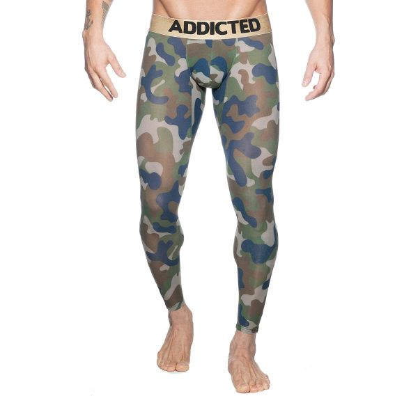 Addicted mutande lunghe BOTTOMLESS CAMO LONG JOHN AD695, camouflage