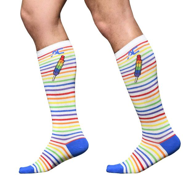 Andrew Christian Socken PRIDE STRIPE POPSICLE SOCKS 8471, mehrfarbig
