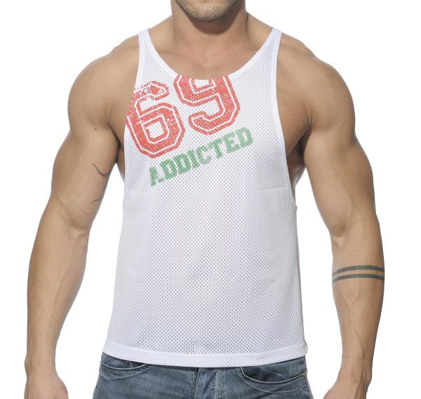 Addicted Tank Top LOW RIDER 69 AD241, weiss