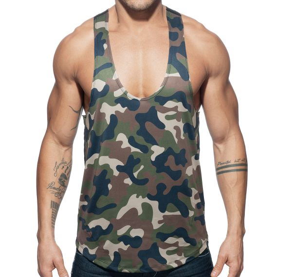 Addicted Sportshirt COMBI CAMO TANK TOP AD584, camouflage